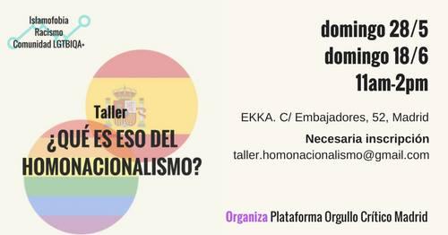 Taller: ¿Qué es eso del homonacionalismo? @ Eskalera Karakola