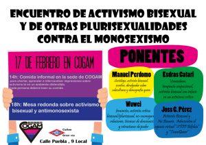 Encuentro de activismo bisexual y de otras plurisexualidades contra el monosexismo @ Sede de COGAM